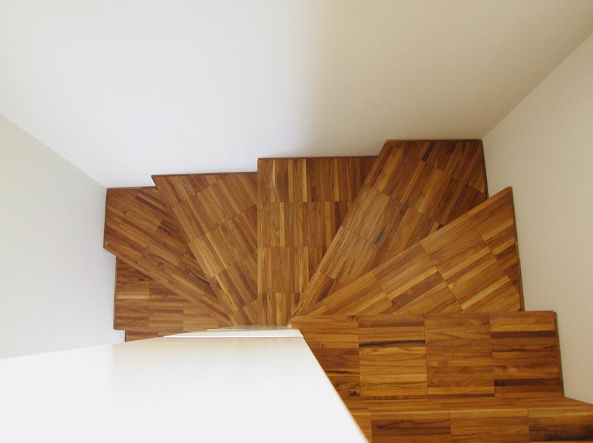 legno scale interni casa studio architettura cesena