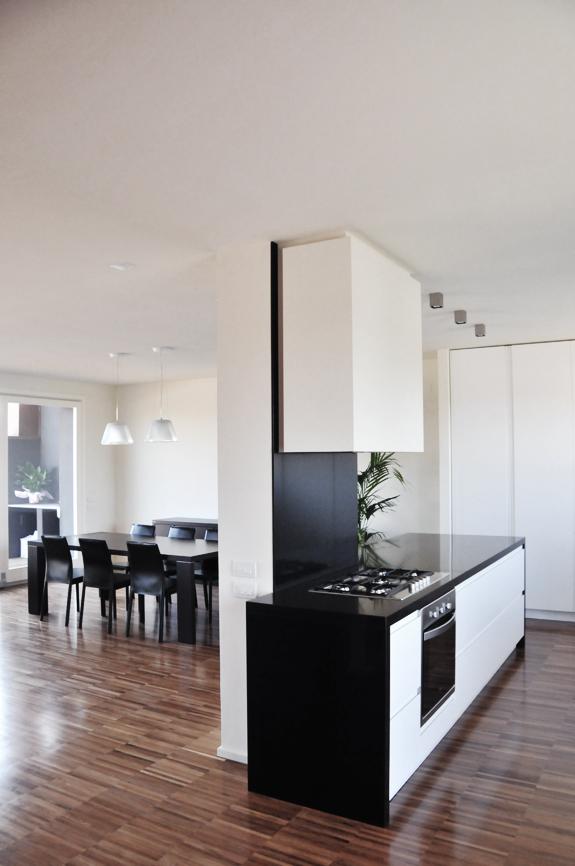 soggiorno cucina interni casa studio architettura cesena