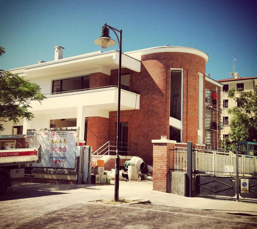 architettura lavori cantiere esterno casa studio di architettura cesena