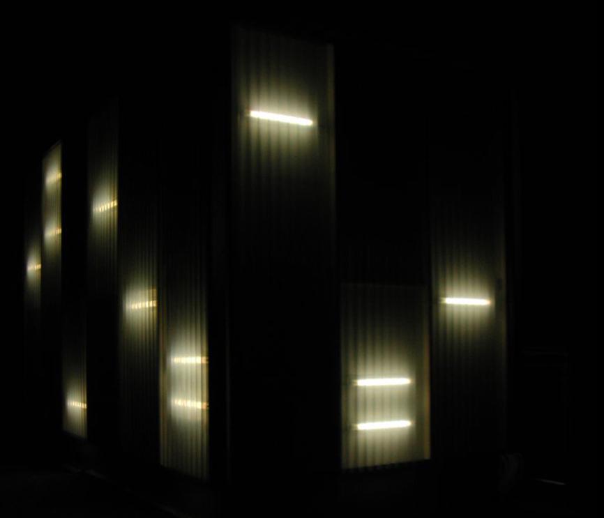 luci ristrutturazione casa bifamiliare studio architettura cesena