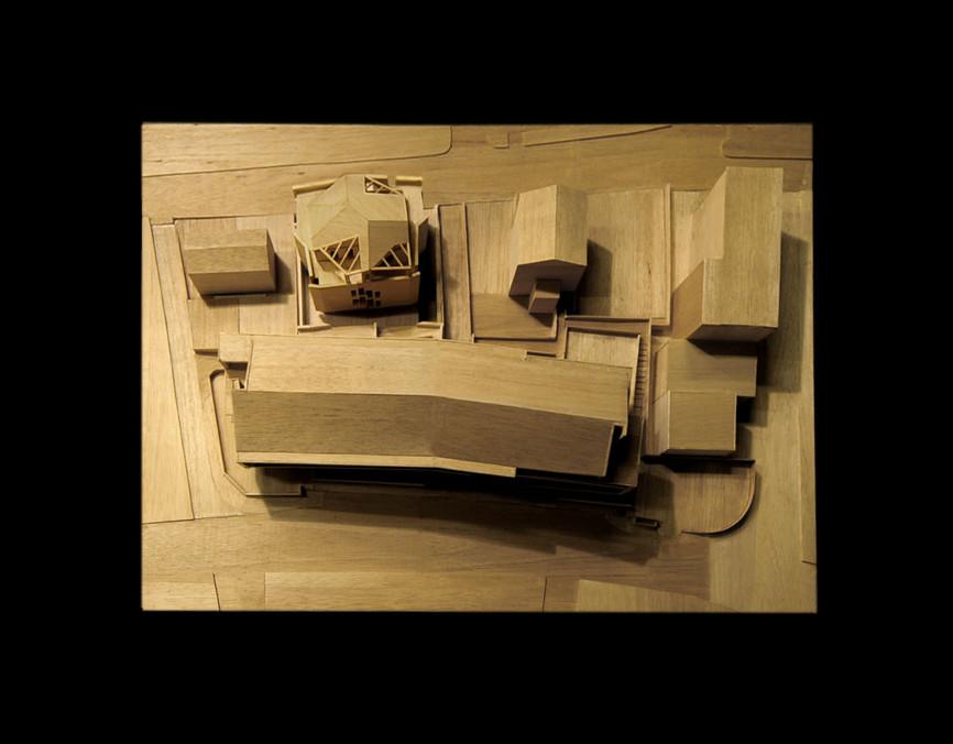 sd edificio residenziale casa plastico model studio architettura cesena