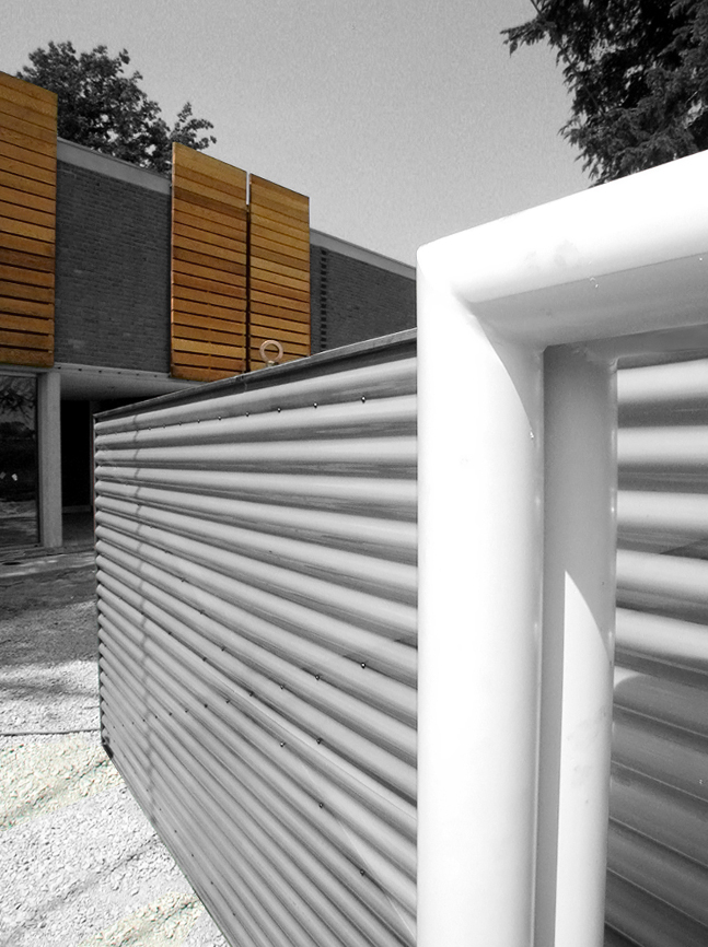 ingresso ristrutturazione casa bifamiliare studio architettura cesena
