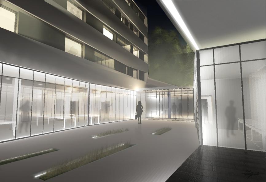 render car corte notte idee studio architettura cesena