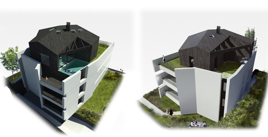 assonometria sd2 casa edificio residenziale idee studio architettura cesena