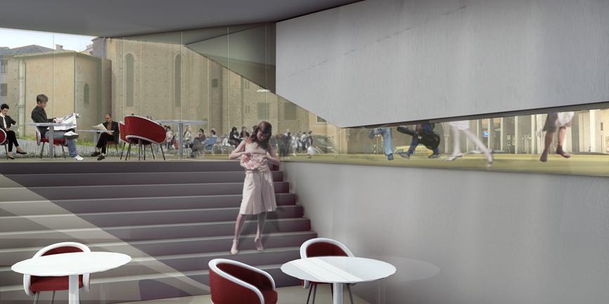 render piazza liberta concorso idee studio architettura cesena
