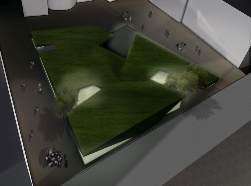 render notte piazza liberta concorso idee studio architettura cesena