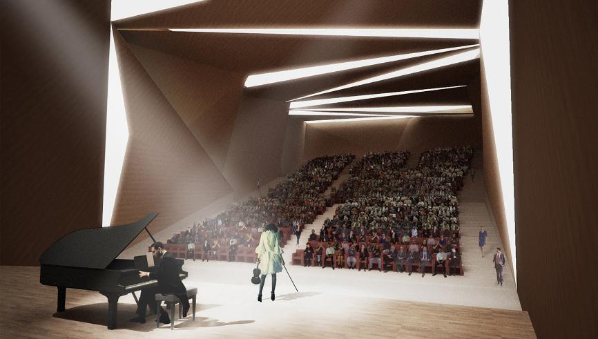 render auditorium idee concorso roma studio architettura cesena