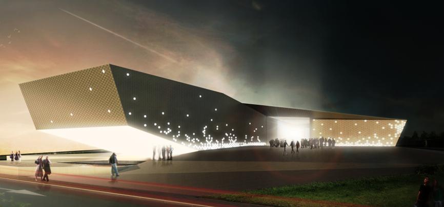 render notte idee concorso roma studio architettura cesena