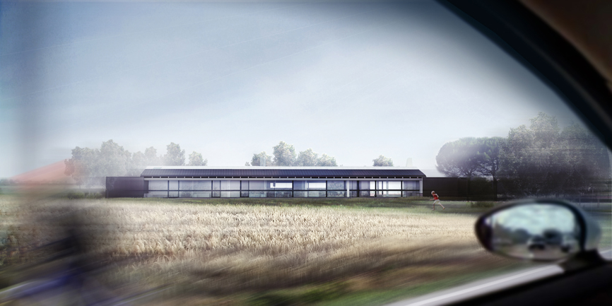 render esterno casa villa unifamiliare studio architettura cesena